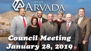 Preview image of Arvada City Council Meeting -  January 28, 2019