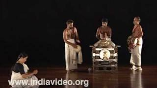 The Mizhavu melam - percussion ensemble