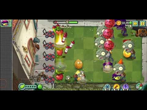 Plants vs Zombies 2- Растения против зомби 2(PvZ 2) Pinata party,пиньята  Apple Mortar,shadow-shroom