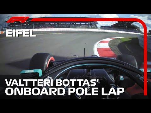 ポールポジションオンボード映像。メルセデスのボッタスが走るニュルブルクリンク F1 ドイツGP2020