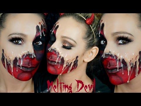 Melting Devil Halloween Makeup Tutorial| Hayley Spear