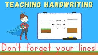 Teaching Handwriting to Children: Don't Forget Your Lines! Handwriting for kids