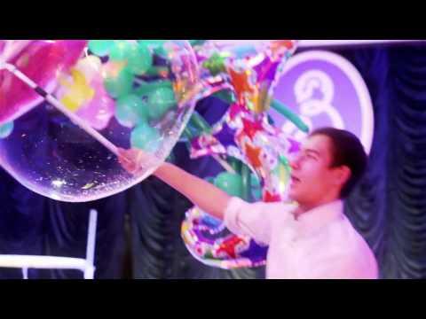 Световое шоу мыльных пузырей