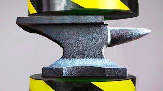 Hydraulic Press vs Steel Weight!