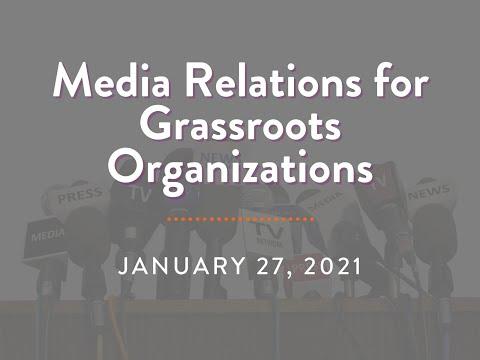 Media Relations Training 1/27/21 - YouTube
