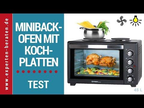 Testbericht ☑ Minibackofen mit Kochplatten FA-5045-4 von TZS First Austria ► Zum Test