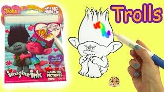 Dreamworks Trolls Poppy + Branch Magic Imagine Ink Rainbow Color Pen Surprise Picture Coloring Video