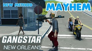 GANGSTAR NEW ORLEANS - How to Score Mayhem Without Police ( New Method )