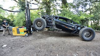 We Used A Forklift To DROP The Off-Road Lamborghini Huracan And See What Happens