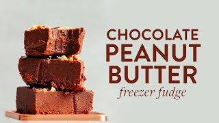 Chocolate Peanut Butter Freezer Fudge (4 Ingredients!) | Minimalist Baker Recipes