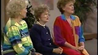 Golden Girls cast on talk show