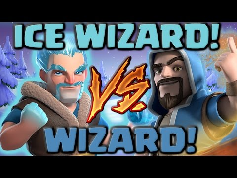 Video Ice Wizard Vs Wizard - Clash of Clans Battle! New CoC Troop Attacks