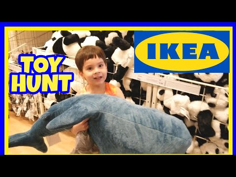 IKEA TOY HUNT SHOPPING TRIP FOR KIDS IKEA SUPERSTORE HUGE KIDS SECTION
