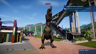 Jurassic World Evolution: Tyrannosaurus Rex Army Human Rampage
