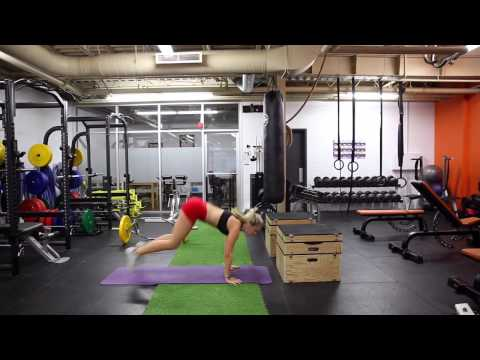 Box Jump Chest-to-Floor Burpees