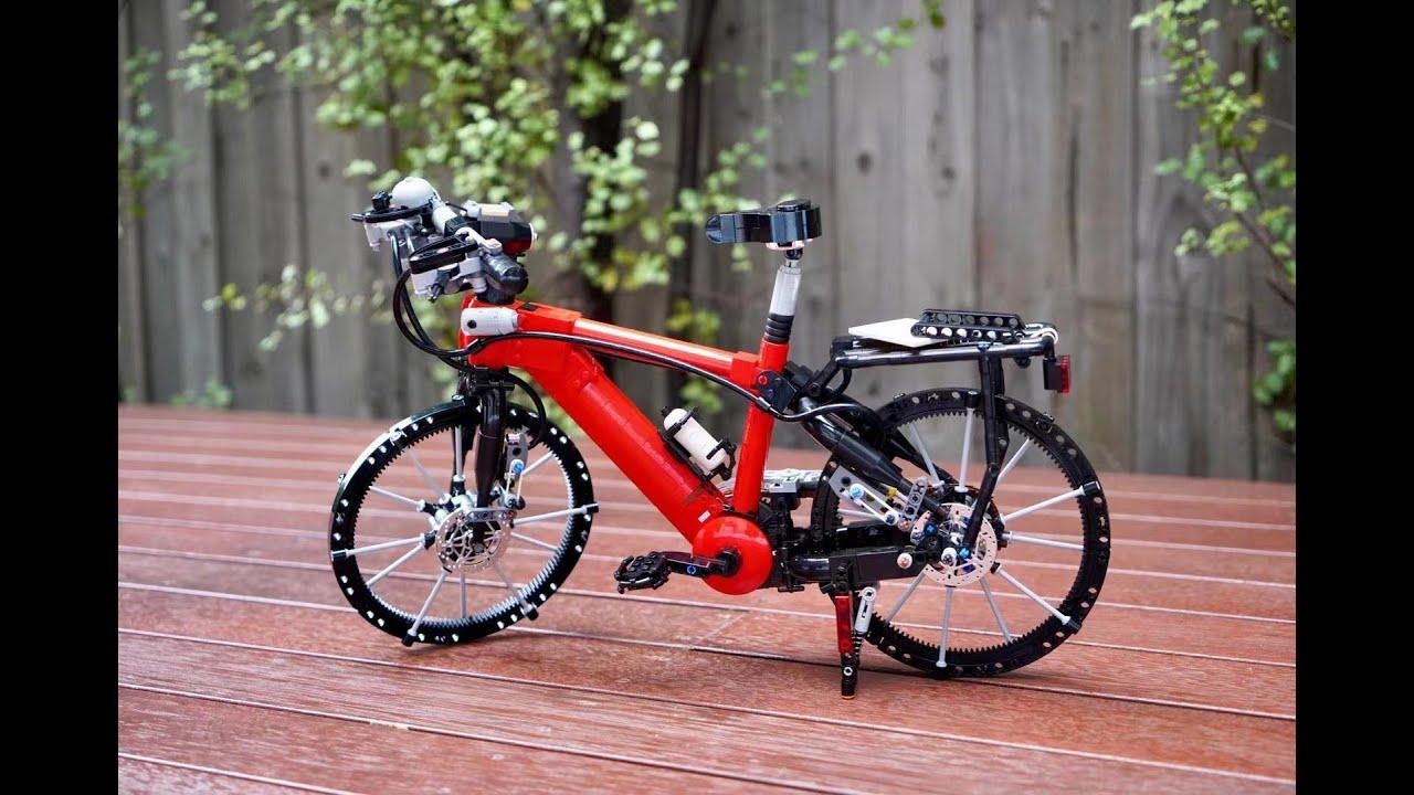 Un bici perfettamente funzionante di LEGO