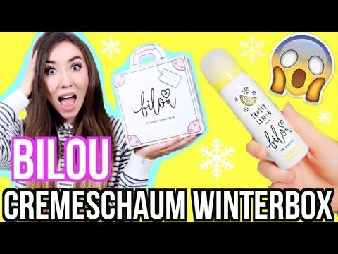 BILOU Cremeschaum BOX KOFFER (Frosty Lemon Bodylotions) - UNBOXING / auspacken + LIVE TEST