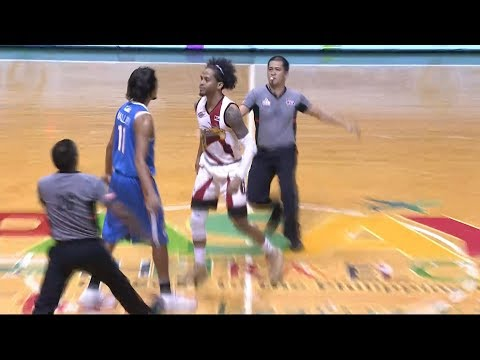 Alex Mallari and Chris Ross clashing and sharing sweet nothings! | PBA Philippine Cup 2018