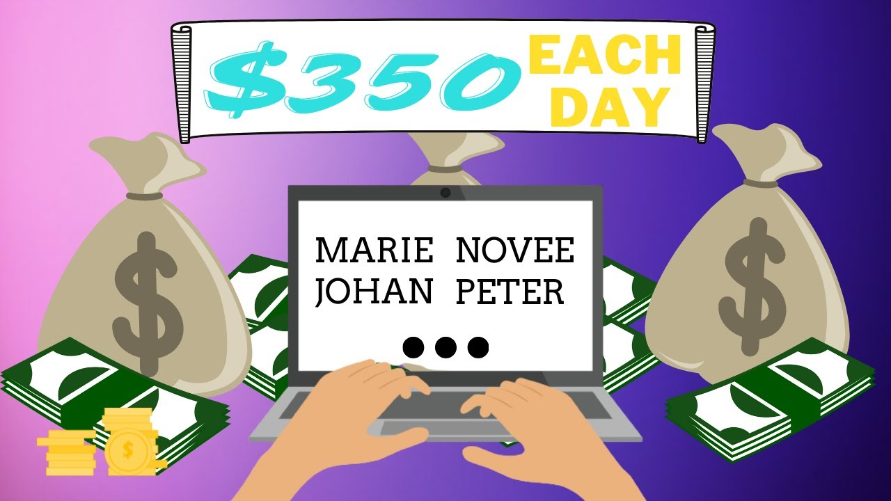 Make $350 EVERY DAY by Simply Typing Names - $15 per PAGE (Generate Income Online) thumbnail