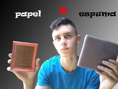 FILTRO DE AR DE ESPUMA X PAPEL