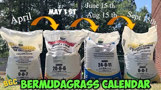Bermuda Grass Calendar for lawns 2020 // Sunniland Fertilizer // Lawn calendar