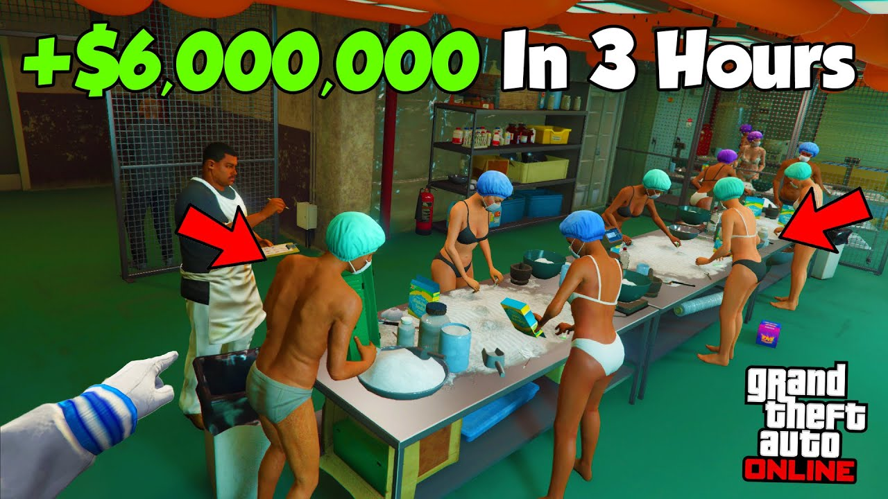How To Make Over $6,000,000 In 3 Hours In GTA 5 Online|Anybody Can Make Millions Easy Doing This! thumbnail