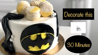 How To Make A Simple Fondant Batman Cake In Under 30 Minutes At Home