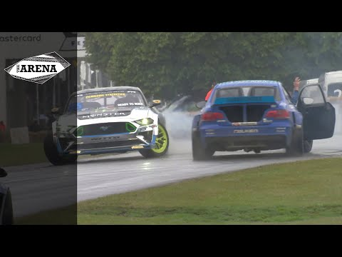 Vaughn Gittin Jr. and James Deane's glorious tandem donuts at FOS