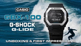 Casio G-Shock GBX-100 Unboxing And First Impressions   G-Shock G-Lide With MIP Display And Bluetooth