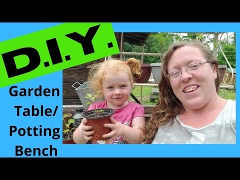 D.I.Y. Garden Table/ Potting Bench