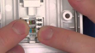 How To install a CAT5E Network Faceplate Socket and How To FIX a wiring FAULT
