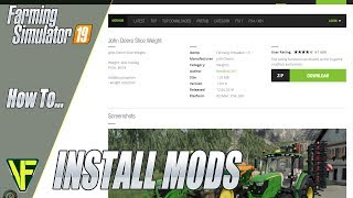 how to download mods on farming simulator 19 pc - Video vui