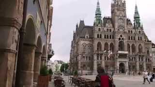Liberec Old Town Altstadt / Liberec Stare Miasto z Ratuszem Czech Republic 06.2013