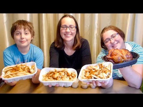 Poutine And Rotisserie Chicken | Gay Family Mukbang (먹방) - Eating Show