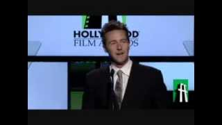 Edward Norton introducing Richard Gere at Hollywood Awards