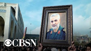 "The U.S. is sending thousands of additional troops to the Middle East after Iran vowed ""harsh retaliation"" for the death of a top Iranian general. Qassem Soleimani's convoy was hit early Fridany morning in a drone strike ordered by President Trump. U.S. officials had been tracking Soleimani as he traveled in the region. CBS News' national security correspondent David Martin reports from the Pentagon.  Subscribe to the CBS News Channel HERE: http://youtube.com/cbsnews Watch CBSN live HERE: http://cbsn.ws/1PlLpZ7 Follow CBS News on Instagram HERE: https://www.instagram.com/cbsnews/ Like CBS News on Facebook HERE: http://facebook.com/cbsnews Follow CBS News on Twitter HERE: http://twitter.com/cbsnews  Get the latest news and best in original reporting from CBS News delivered to your inbox. Subscribe to newsletters HERE: http://cbsn.ws/1RqHw7T  Get your news on the go! Download CBS News mobile apps HERE: http://cbsn.ws/1Xb1WC8  Get new episodes of shows you love across devices the next day, stream CBSN and local news live, and watch full seasons of CBS fan favorites like Star Trek Discovery anytime, anywhere with CBS All Access. Try it free! http://bit.ly/1OQA29B  --- CBSN is the first digital streaming news network that will allow Internet-connected consumers to watch live, anchored news coverage on their connected TV and other devices. At launch, the network is available 24/7 and makes all of the resources of CBS News available directly on digital platforms with live, anchored coverage 15 hours each weekday. CBSN. Always On."
