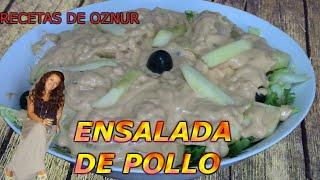 ENSALADA DE POLLO | recetas de cocina faciles rapidas y economicas de hacer - comidas ricas
