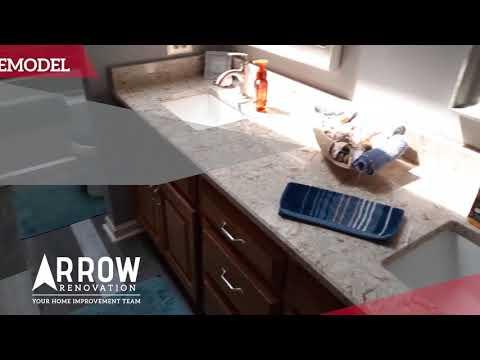 Upstairs Hallway Bathroom Remodel for a Customer in Olathe, KS