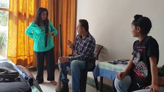 Learning Gun loading-Mamta Sachdeva Punjab (Fun Moments)