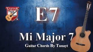 ★ ★ ★ Mi7 Major   How To Play E7 Chords On Guitar   Mi Major 7 Akoru Gitarda Nasıl Basılır ?