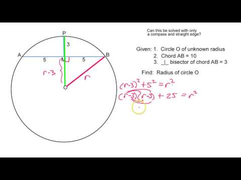 Download link youtube how do you find the radius given a chord download link youtube how do you find the radius given a chord and a perpendicular bisector ccuart Image collections