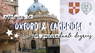 Applying To Oxford And Cambridge For Postgraduate Study   Alicedoesphysics