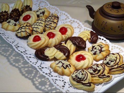 Receta Galletas rizadas o pastas de té - Recetas de cocina, paso a paso, tutorial. Loli Domínguez