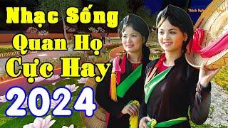 Nhạc Sống Thôn Quê  - LK Nhạc Quan Họ Bắc Ninh Hay Nhất - MC Hương Quỳnh