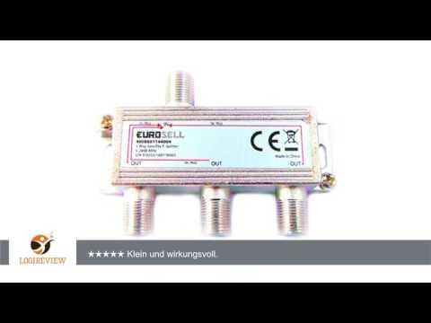 Digitaler 3-fach SAT Antennen Kabel TV BK Verteiler Splitter HDTV 3fach F Verteiler Fernsehen