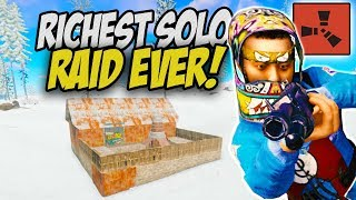 The Most Intense Solo Raid! Insanely Rich Base! - Rust Solo Survival Gameplay