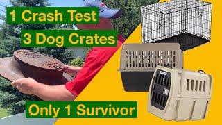 Best Dog Crate Crash Tests: 1 Test - 3 Crates - 1 Winner