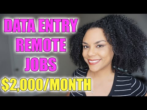 Data Entry Jobs, Work From Home!