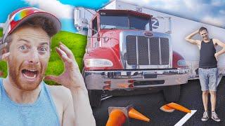 Try Guys Parallel Park Semi-Trucks • BIG TRY