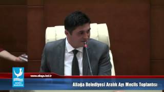 Aliağa Belediyesi 2 Aralık Meclis Toplantısı